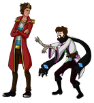 Rythian and Xephos Clothes Swap by KTechnicolour