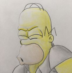 Homer Simpson D'oh! by CaptainEdwardTeague