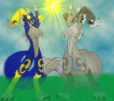 Zoey and Vulpy new look by sedsone