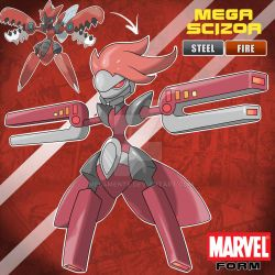 MEGA SCIZOR MARVEL FORM by Meg4mente