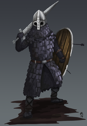 Chainmail/Scalemail test - Bad North by Wolfdog-ArtCorner