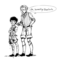 SH: Young Sherlock and Mycroft by cannorachan