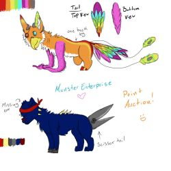 Odd Adoptables -- Point Auction! .:CLOSED:. by MonsterMeds