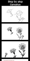Step by step:Flower Carnation by Rinmeothichca