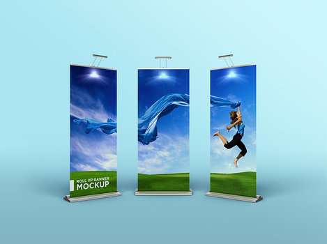Roll Up Banner Mockup by coloformia