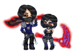 [Menewsha / Vindictus Commish] Woohoohelloppl by IceyVampir