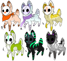 CLOSED - Maskees Adoptables 190 by LeaAdoptables