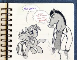Bojack and Twilight by VanyPie