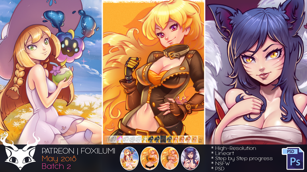 Patreon May 2018 - Batch 2 by Foxilumi