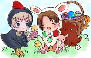 Chibitalia Easter by iCanadianBacon