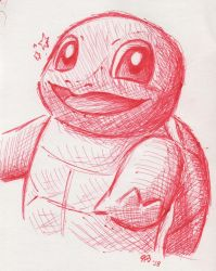 Red Pen Squirtle by RoboPika20