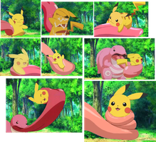 Pikachu and Lickitung