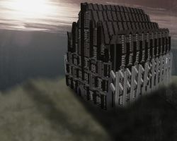 Minecraft Cathedral by skysworld