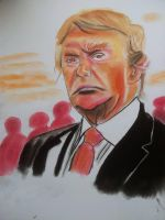 A quick caricature about Donald Trump by mchofmann