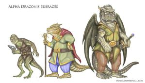 Reptilian Subraces by MythAdvocate