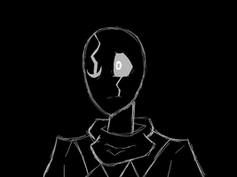 Gaster Rough Sketch by AlexVoicer001
