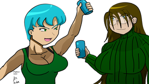 Molly and Kelly New Year celebration by fighterxaos