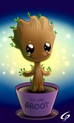 Little Groot_by Gino Descalzi by Dreamgate-Gad