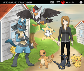 My sister and her pokemon team by beverlyhen
