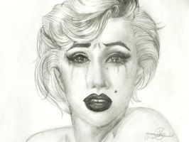 black tears for Marilyn Monroe by erryCherry