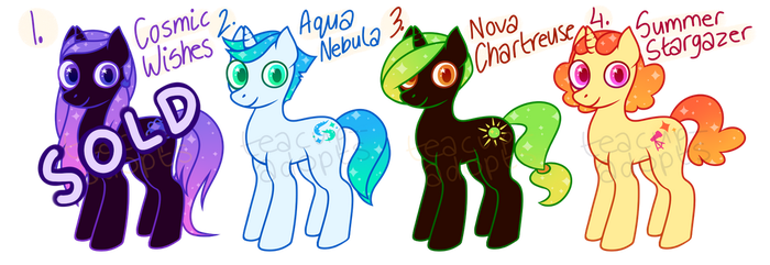 space pony adoptables - unicorns (OPEN) by teacup-adopts