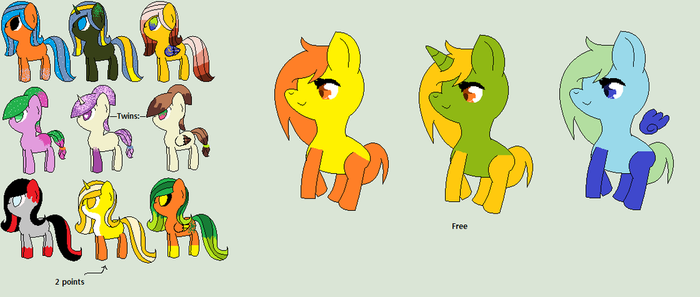 MLP 2 Points and FREE Adopts-OPEN by Luci-Adopts-Galore