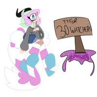 TY FOR 30+ WATCHERS! by BlackJayDraws