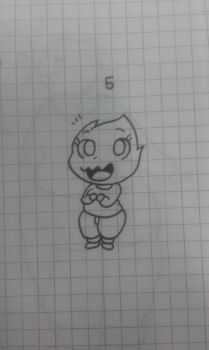 Challenge: draw your OC : chibi by Clemi1806