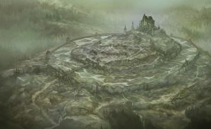 Dol Guldur Map for Heart of the Wild by JonHodgson