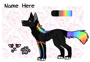 obligatory rainbow wolf adoptable by naeggi