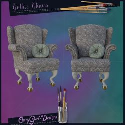 Gothic Chairs by CntryGurl-Designs