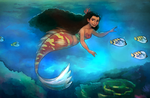 Mermaid Moana by relsgrotto