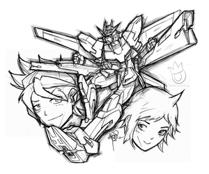 Gundam Build Fighters 001 by sykoeent