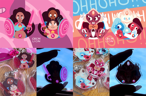 Stevonnie and Sardonyx charms by chicinlicin
