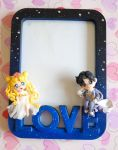 Handmade Sailor Moon picture frame by SimonaZ