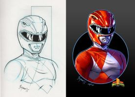 Mighty Morphin Power Rangers. RED RANGER by le0arts