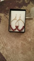 14k gold and Ruby Earrings by FreiaInguz