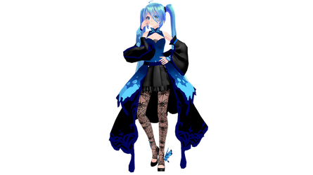 MMD Model Download: TDA Butterfly Dress Miku by K-Manoc1