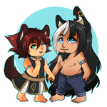 Yochi And Kyrian Charm by NightWolfStudio