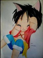2014 Drawing - Luffy :) by nielopena
