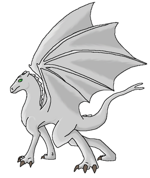 Pernese Dragon: Standing by maiwolf