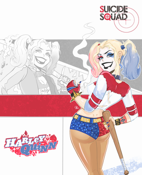 Suicide Squad Harley Batman TAS style by TerryAlec