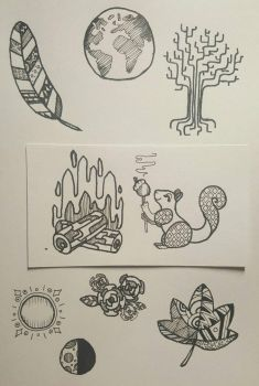 Earth + Nature Doods by wooven
