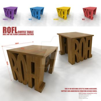 TYPO_ROFL coffee tabe by parammetric