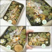 Commission - Large Altoids Koi Pond by PepperTreeArt