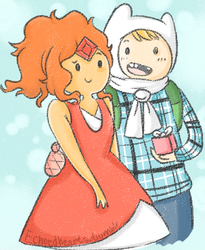 Winter Holiday Finn and Flame Princess by EchoHearts
