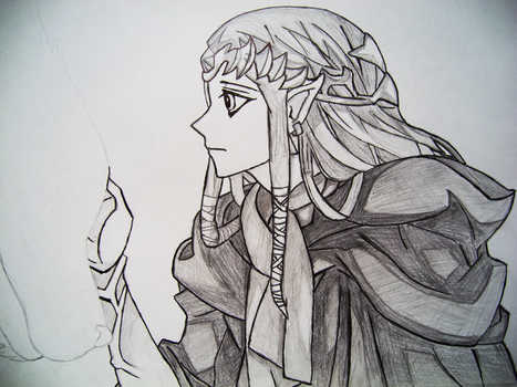 Sketch - Twilight Princess by Darksence1