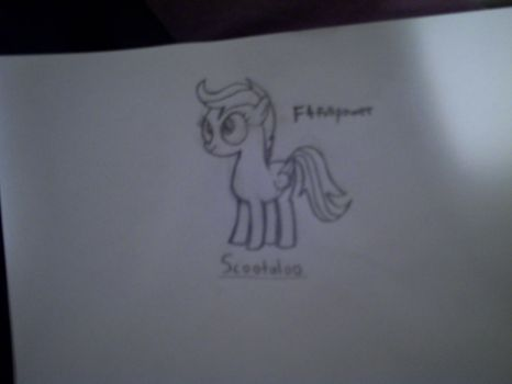 Crappy Scootaloo Sketch by F4fullpower