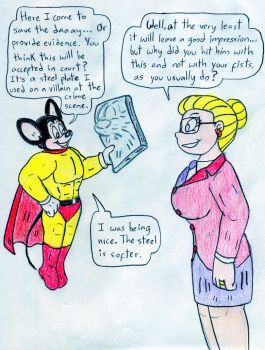 Attorney Angelica and Mighty Mouse by Jose-Ramiro