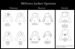Military Jacket Options by nolwen